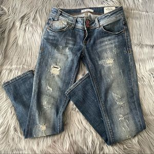 LTB low rise slim distressed jeans
